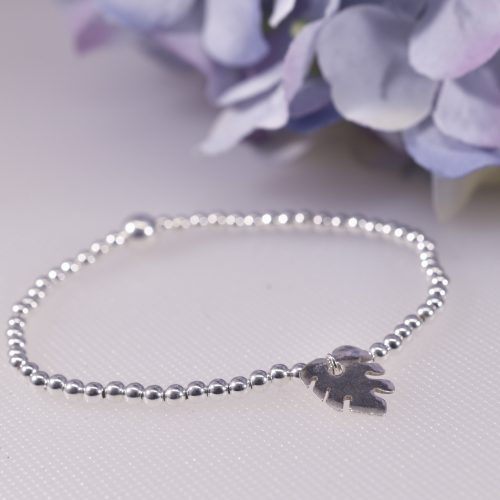 Handmade Sterling Silver Monstera Leaf Bracelet