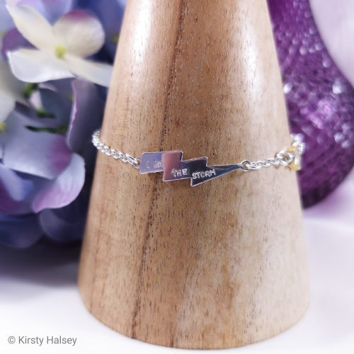 Handmade Sterling Silver I Am The Storm Bracelet