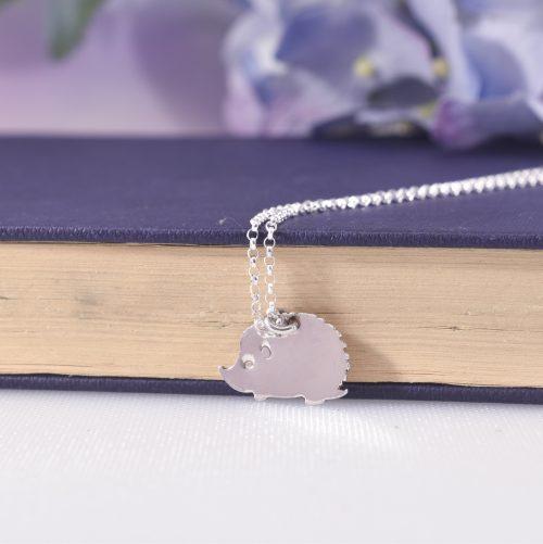 Handmade Sterling Silver Hetty Hedgehog Necklace