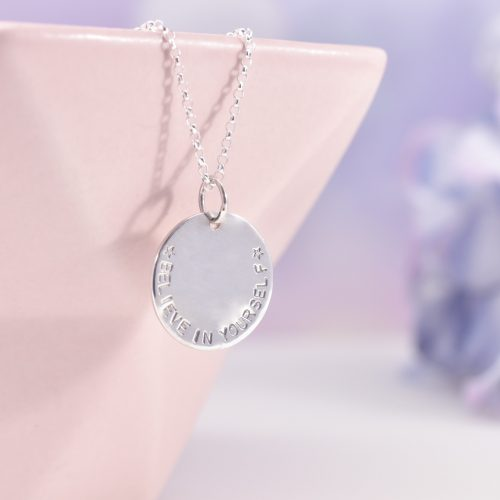 Handmade Sterling Silver Mantra Necklace