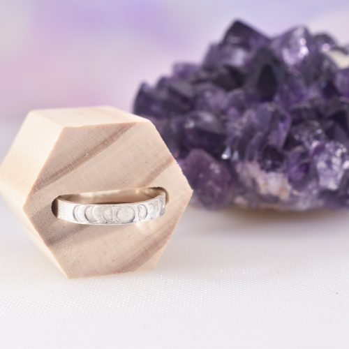 Handmade Sterling Silver Moon Phase Ring