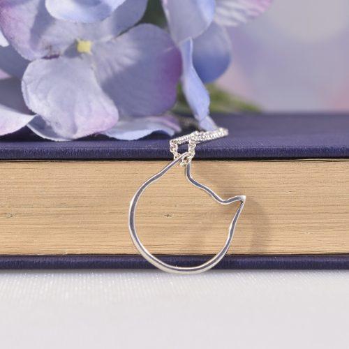 Handmade Sterling Silver Pretty Kitty Necklace