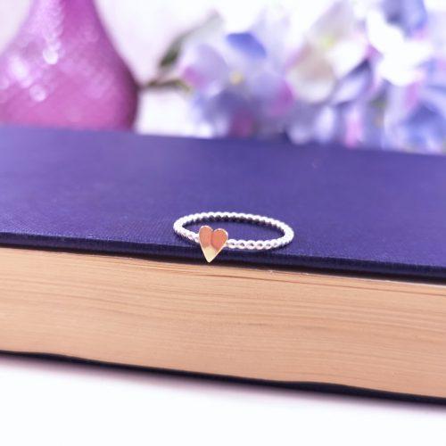 Handmade Sterling Silver Love Heart Ring