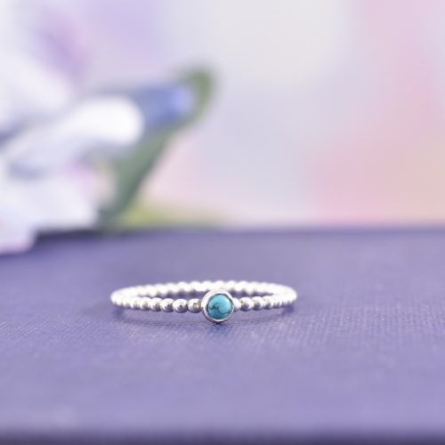 Handmade Sterling Silver Turquoise Stacking Ring