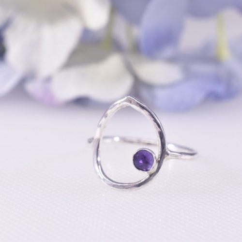 Handmade Sterling Silver Dewdrop Statement Ring