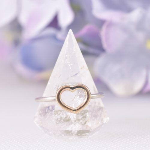 Handmade Gold Heart Entwined Ring