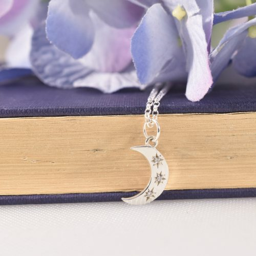 Handmade Sterling Silver Crescent Moon Necklace
