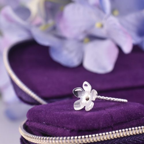 Handmade Sterling Silver Forget Me Not Ring