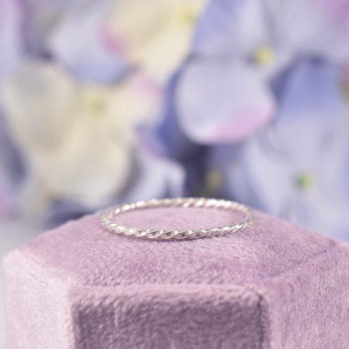 Handmade Sterling Silver Rope Ribbon Twist Ring