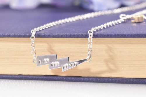 Handmade Sterling Silver I Am The Storm Necklace