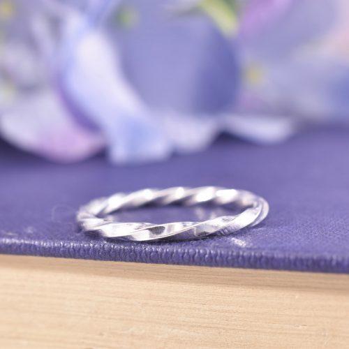 Handmade Sterling Silver Ribbon Twist Ring