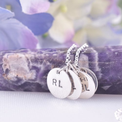 Handmade Sterling Silver Personalised Mini Disc Necklace